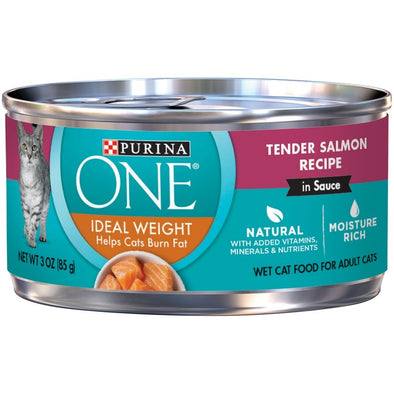 Purina ONE Ideal Weight Tender Salmon in Sauce Canned Cat Food