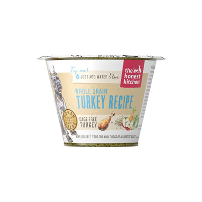The Honest Kitchen Whole Grain Turkey Recipe Dehydrated Dog Food Cups