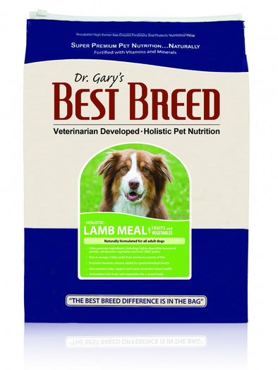 Dr. Gary's Best Breed Holistic Lamb Meal with Fruits & Vegetables Dry Dog Food