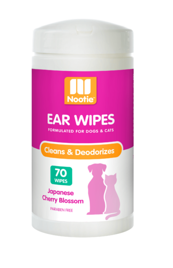 Nootie Japanese Cherry Blossom Ear Wipes For Dogs & Cats