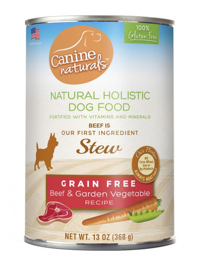 Canine Naturals Grain Free Beef & Garden Vegetable Stew Canned Dog Food
