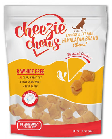 Cheezie Chews Rawhide Free Teenie Knotted Cheese Bone Dog Treats