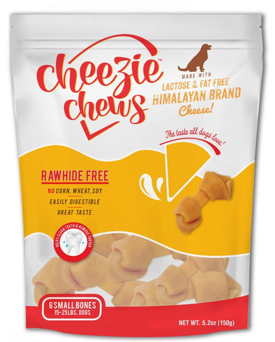 Cheezie Chews Rawhide Free Small Knotted Cheese Bone Dog Treats