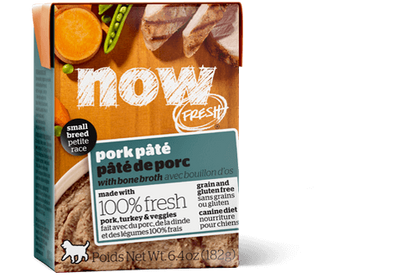 Petcurean NOW! Fresh Grain Free Small Breed Pork Pate Wet Dog Food