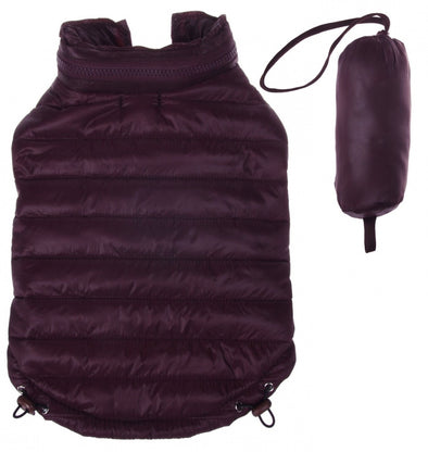 Pet Life Adjustable Dark Coco Brown Sporty Avalanche Dog Coat with Pop Out Zippered Hood