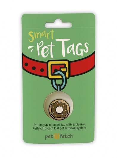 Pet Fetch Doughnut Emoji Smart Pet Tag