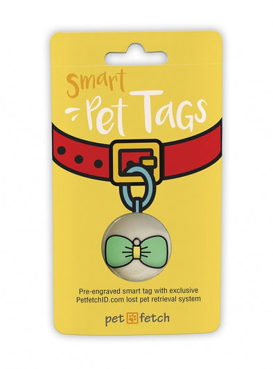 Pet Fetch Bow Tie Emoji Smart Pet Tag