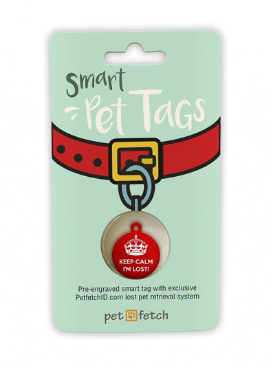Pet Fetch Keep Calm I'm Lost Smart Pet Tag