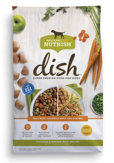 Rachael Ray Nutrish Dish Natural Chicken & Brown Rice with Fruit & Veggies Recipe Dry Dog Food