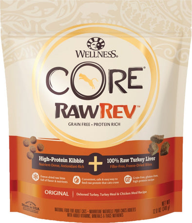 Wellness CORE RawRev Original Deboned Turkey, Turkey Meal, & Chicken Meal Dry Cat Food