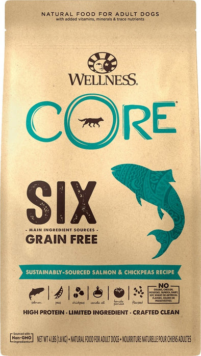 Wellness CORE SIX Salmon with Chickpeas Recipe Dry Dog Food