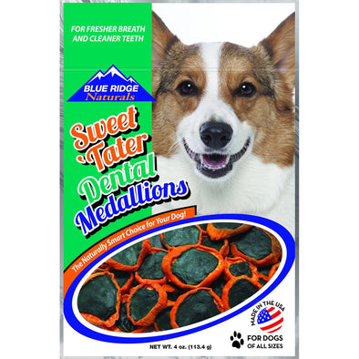 Blue Ridge Sweet Tater Dental Medallions Dog Treats