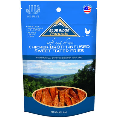 Blue Ridge Naturals Chicken Broth Infused Sweet Tater Fries Dog Treats