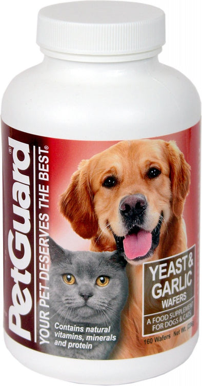 PetGuard Yeast & Garlic Supplement Wafers for Dogs & Cats