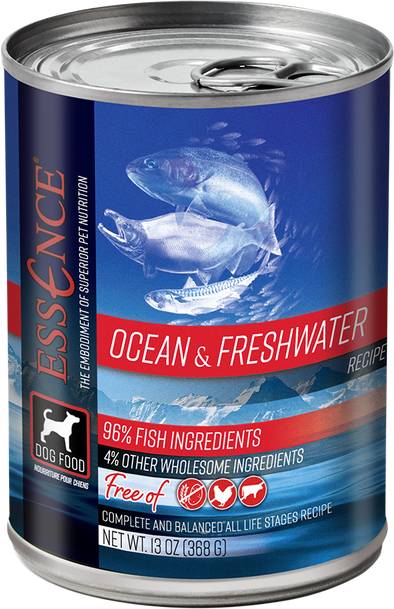 Essence Grain Free Ocean & Freshwater Recipe Canned Dog Food