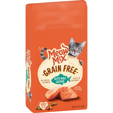 Meow Mix Grain Free Wild Salmon Recipe Dry Cat Food
