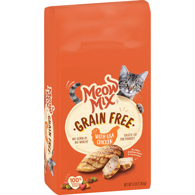 Meow Mix Grain Free USA Chicken Recipe Dry Cat Food