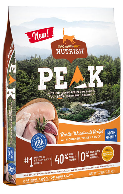 Rachael Ray Nutrish Peak Rustic Woodlands Recipe Chicken, Turkey & Duck Recipe Dry Cat Food