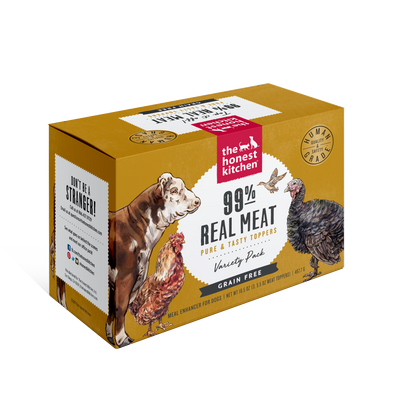The Honest Kitchen 99% Meat Protein Variety Pack Dog Food Boosters