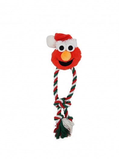 Pet Krewe Sesame Street Santa Elmo Dog Chew Toy