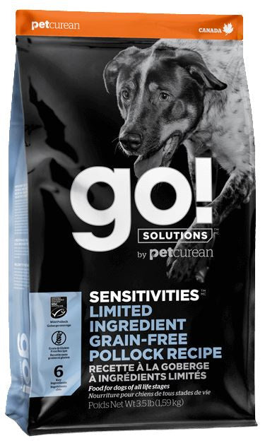 Petcurean GO! Solutions Sensitivities Limited Ingredient Pollock Recipe Dry Dog Food