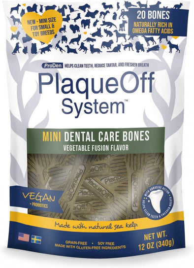 Proden PlaqueOff Mini Dental Vegetable Fusion Bones for Small Breed Dogs