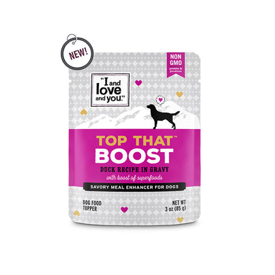 I and Love and You Top That Boost Duck Recipe in Gravy Meal Enhancer for Dogs