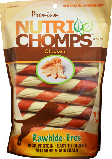 Premium Nutri Chomps Chicken Wrapped Twists Dog Treats