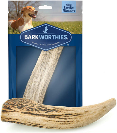 Barkworthies Whole Elk Antler Dog Chew for Large Breed Dogs