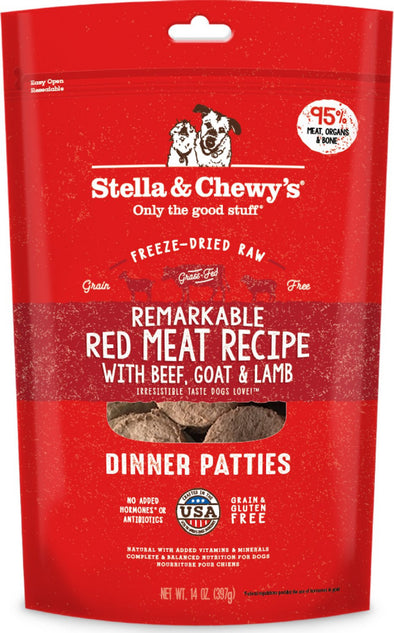 Stella & Chewy's Remarkable Raw Red Meat Recipe Freeze Dried Dinner Patties Dog Food