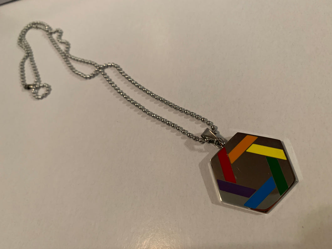 Hexagon-Shaped Pride Necklace