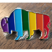 Load image into Gallery viewer, Rainbow Buffalo Pin