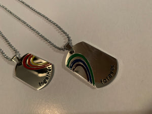 Rainbow Heart Necklace Set