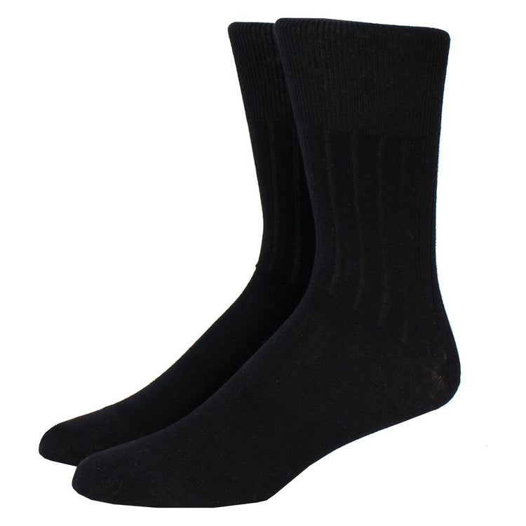 Dress Crew Black Diabetic & Circulatory Socks