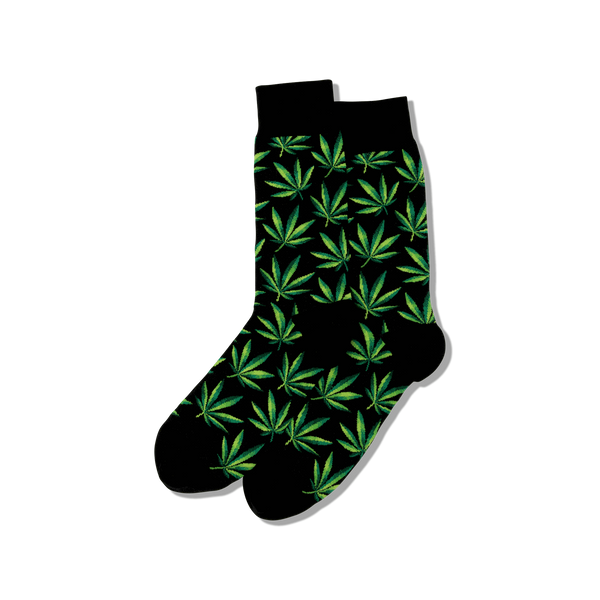 Hot Sox Men's Marijuana Socks Black