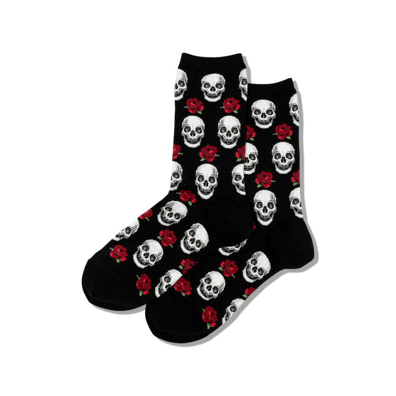 Hot Sox Women's Skulls & Roses Socks