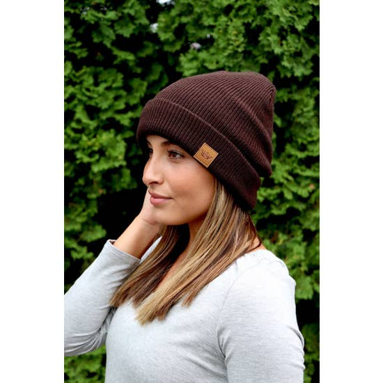 Brown Fleece-Lined Beanie