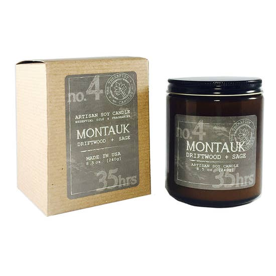 Montauk Driftwood & Sage Candle (Locally Made)
