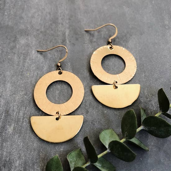 Brass Halo Earrings