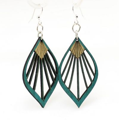 Fan Leaf Palm Wood Earring