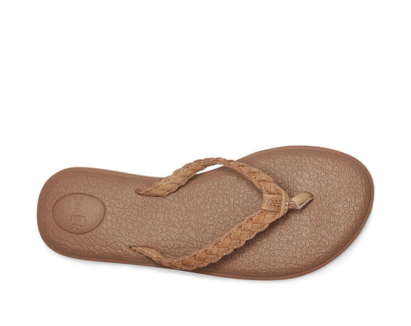 Yoga Braid Tan Leather Sanuk Women's Sandal