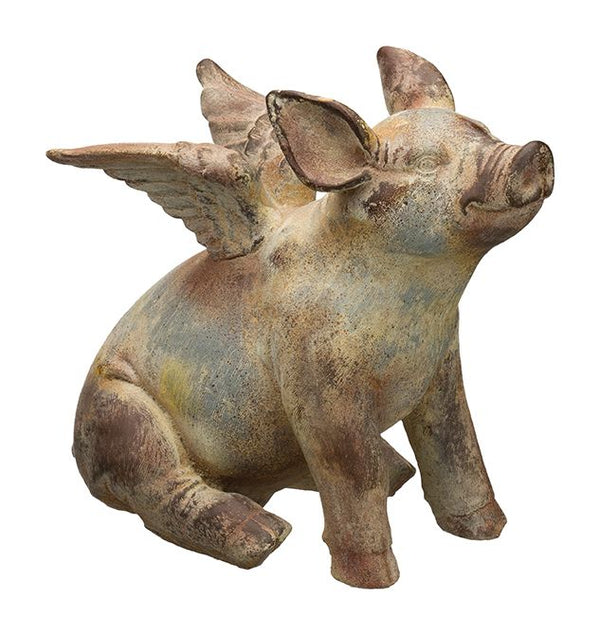 Flying Pig Statue 11""