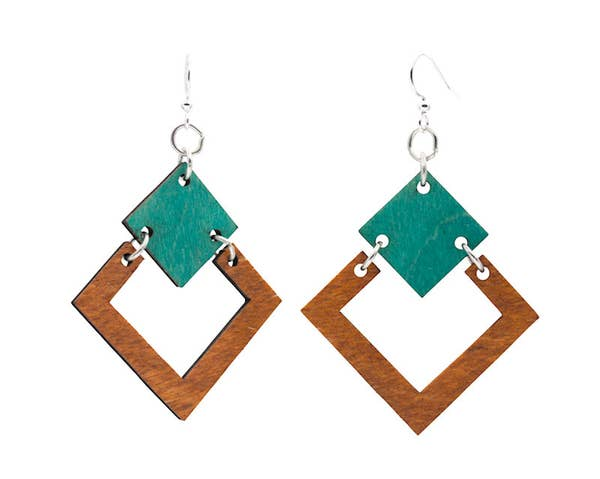 Irel Square Wooden Earrings
