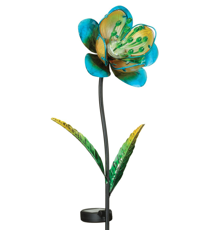Mystic Solar Flower Stake Light