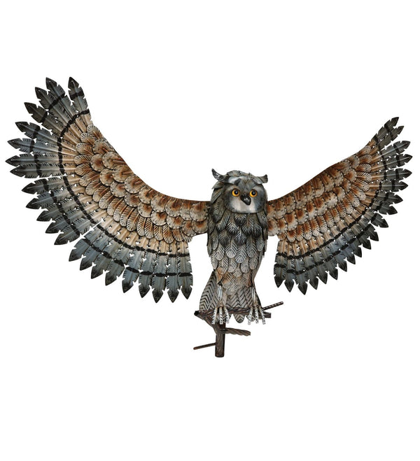 Owl Wall Decor Wings Up