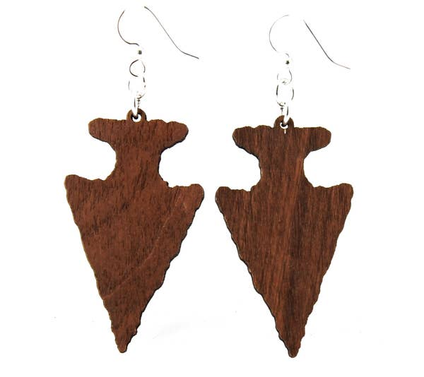 Arrowhead Wooden Earrings