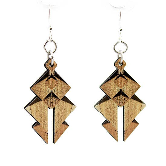 Egyptian Pyramid Wooden Earrings