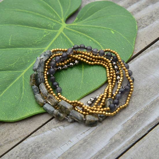 Moonlight Brass Multi-Use Wrap Bracelet
