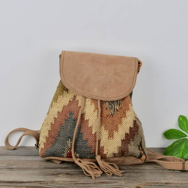 Jute & Suede Backpack