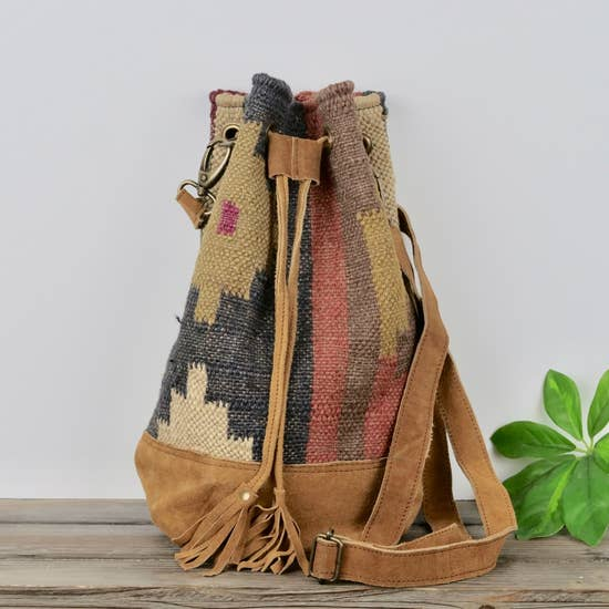 Bucket Backpack Combo Jute Bag